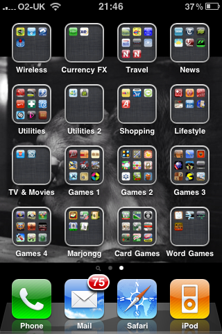 iPhone 3GSwith IOS4 - My App Folders!