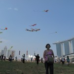 Mum in the midst of the Kites