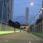 Another segment of the circuit...as we head away from Marina Bay