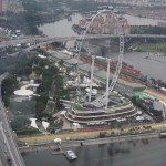 Singapore Flyer and F1 Grandstand