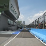 Looking down the Pit Straight