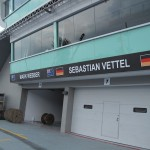Webber and Vettel's Garages