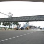 Looking back at one of the Bridge Walkways