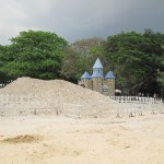 Lots of sand (imported of course!)