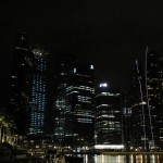 Looking towards the Marina Bay Financial Centre