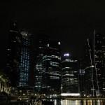 Looking towards the Marina Bay Financial Centre