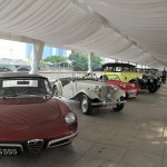 The vintage cars on display...these were actually used on the F1 Driver's Parade Lap...
