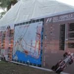 A large marquee with the programme schedule, in case you needed a HUGE map to find your way around!