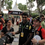 Karun Chandhok, one of the Reserve Drivers for Team Lotus - good to see that the Reserve driver's also get some fans :)