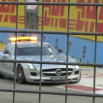 The safety car comes out as a mishap happened further down the track...