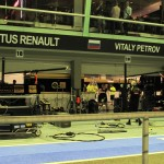 The Lotus Renault garage...