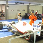 Sauber F1 Car being pushed for inspection...