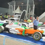 The Force India...