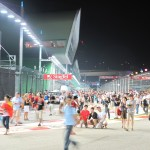 Looking into the Pit Lane from the start of the pits...