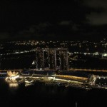 Looking down over the Marina Bay Sands Hotel Complex