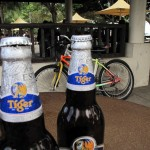 Tiger Beer + Cycling = Great Combination! Ha!