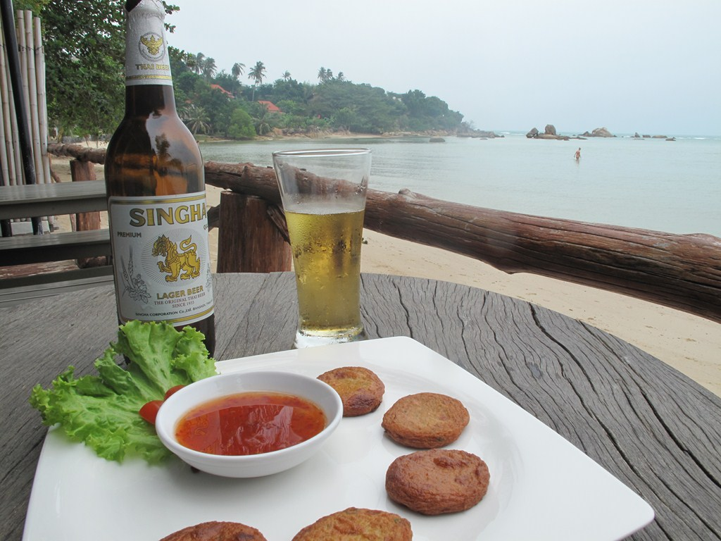 Thai Fish Cakes - Nice with a Singha Beer