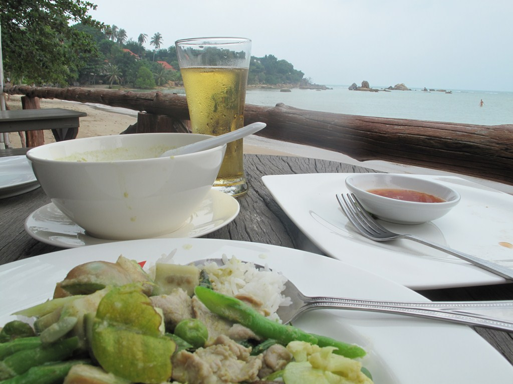 My Green Curry with Singha Beer