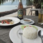 My Beef with Basil Thai Lunch - and Chang Beer