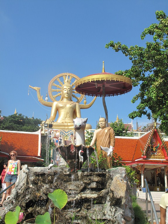 The Fountain and Big Buddha Backdrop