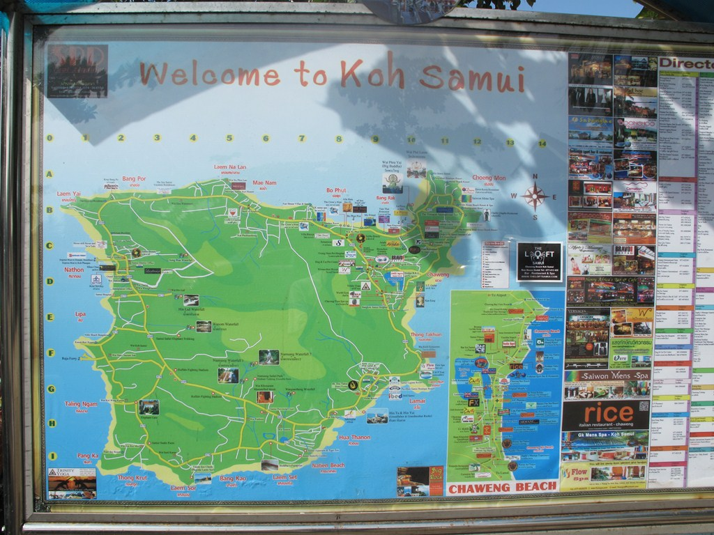 The Koh Samui Map