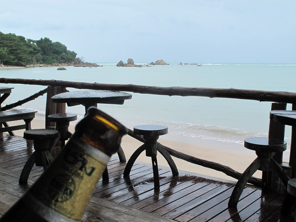 Chang Beer overlooking the Beach