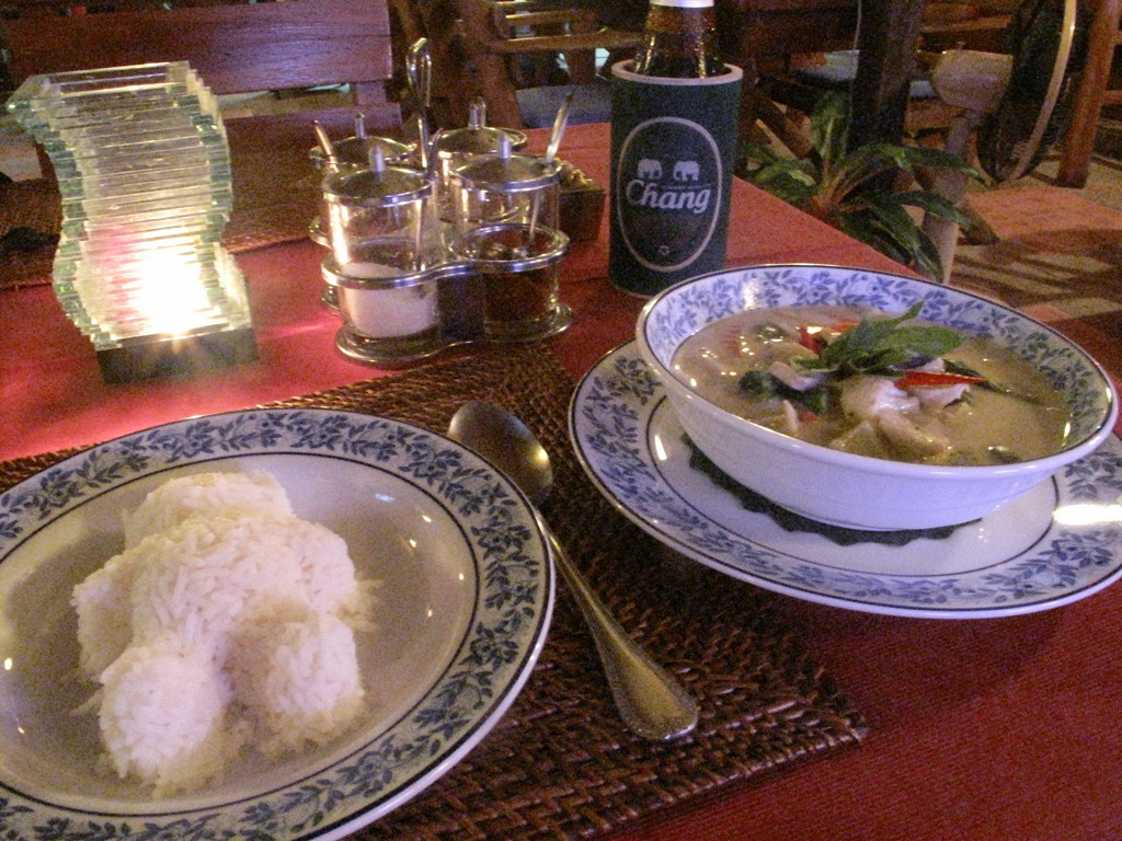 Thai Green Curry with Bear-Shaped Rice and Chang Beer