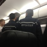 The Police Escorted the Unruly Passengers Off