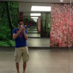 Funny Mirrors in the MRT Walkway