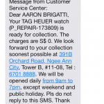 Tag Heuer - Pick-Up Summary