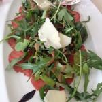 Carpaccio, Rocket and Parmesan Cheese Salad