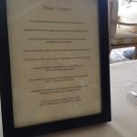 The delightful main course menu