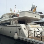 One of the yachts