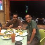 Enjoying our Dinner