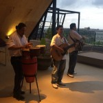 Live music at the roof-top bar