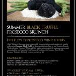 Summer Black Truffle Prosecco Brunch