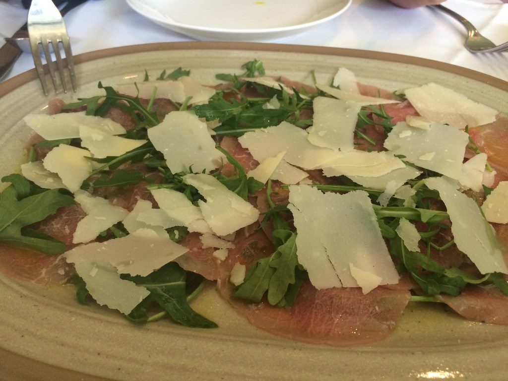 Carpaccio, Parmesan Cheese and Rocket Salad